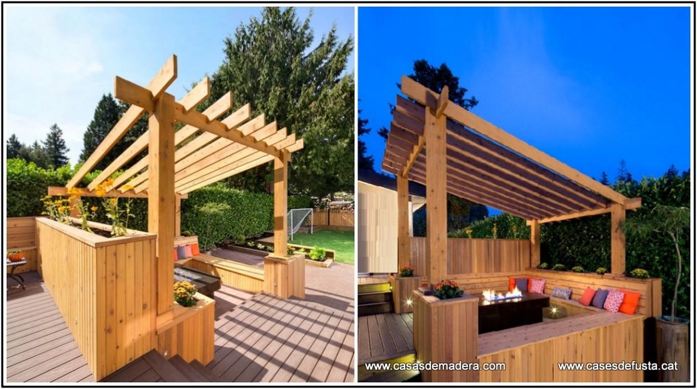 Anexos de jard n garajes terrazas p rgolas bares - Construcciones de casas de madera ...