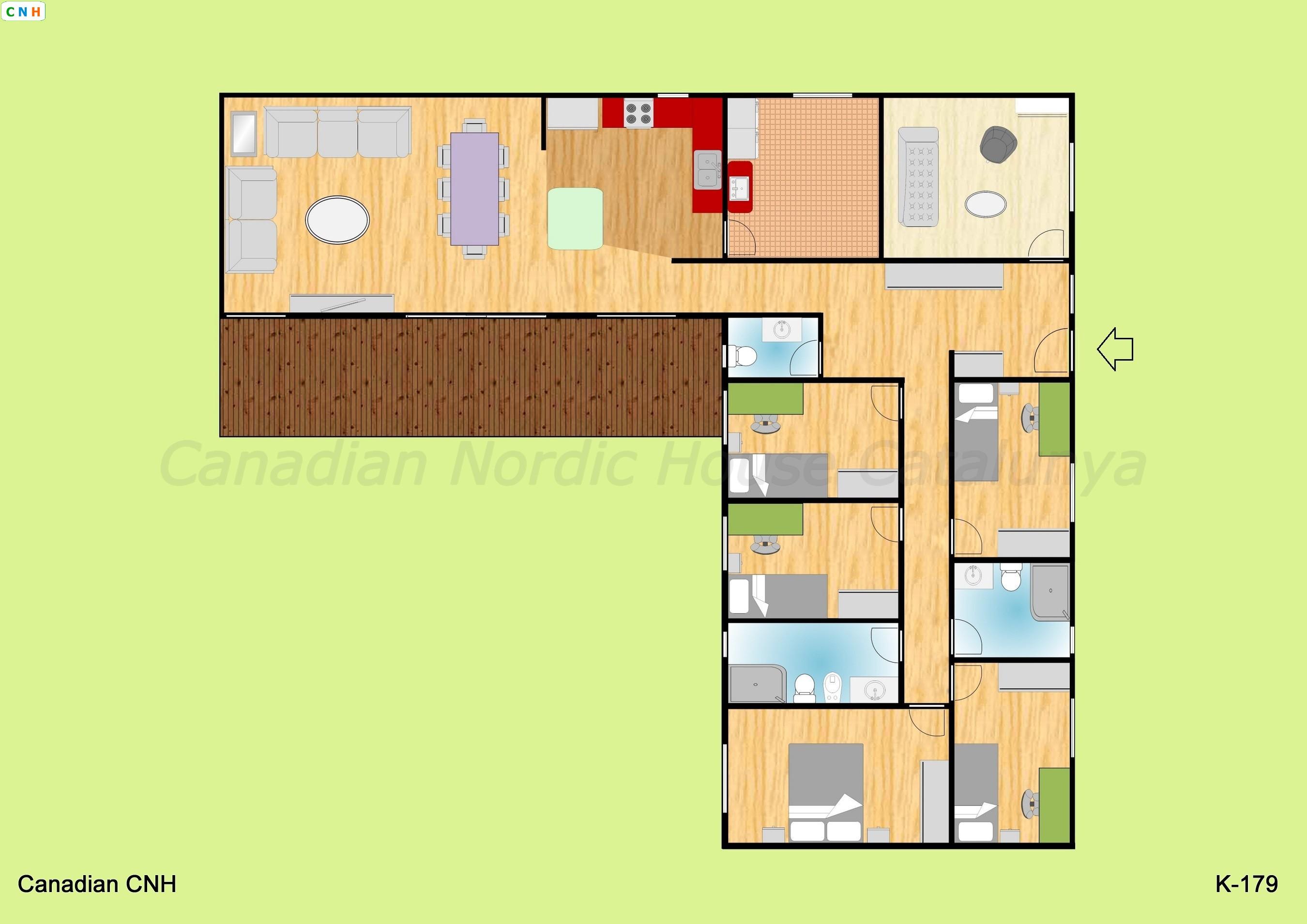 5 habitaciones - Construcciones de casas de madera ...