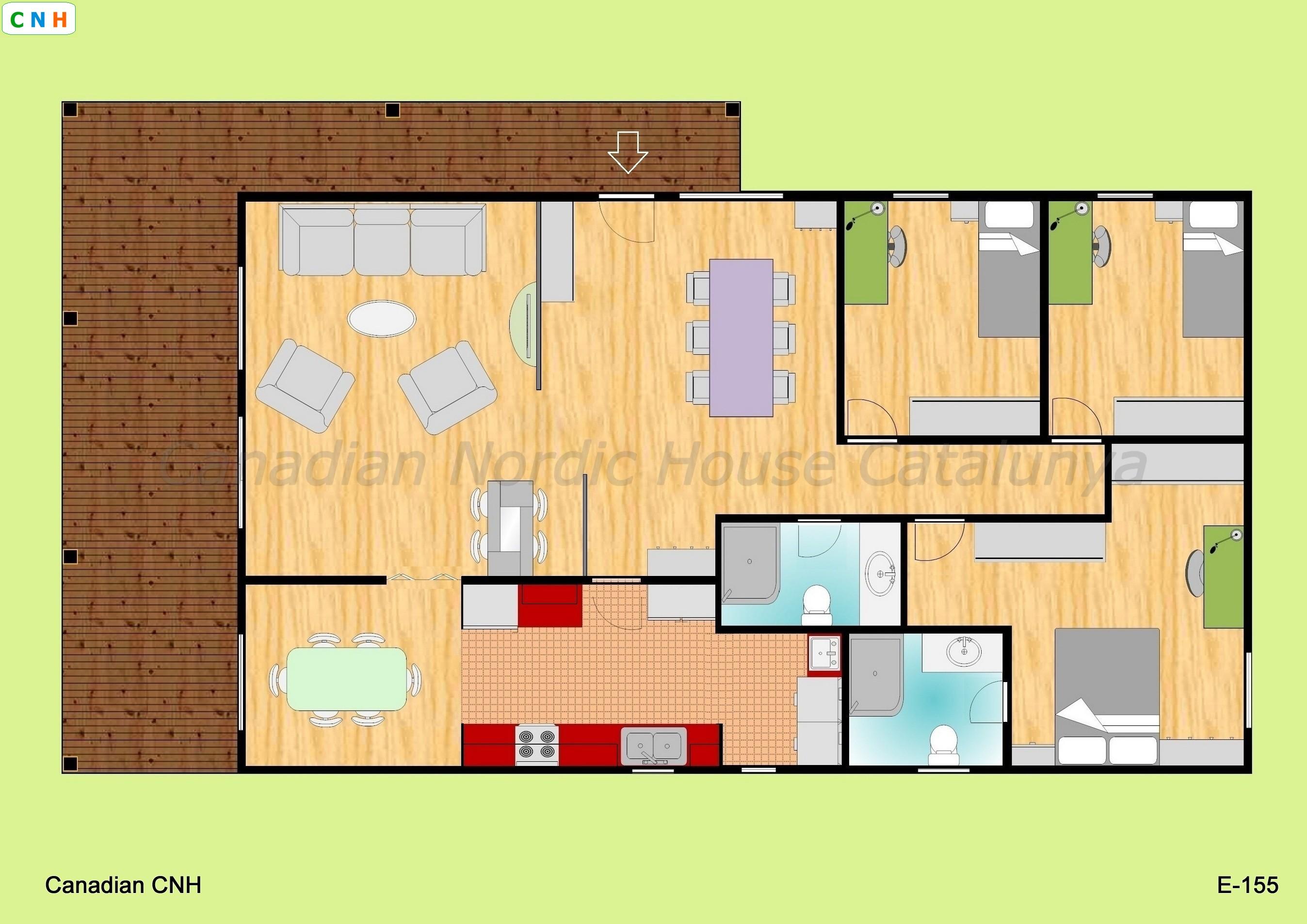 3 habitaciones - Construcciones de casas de madera ...