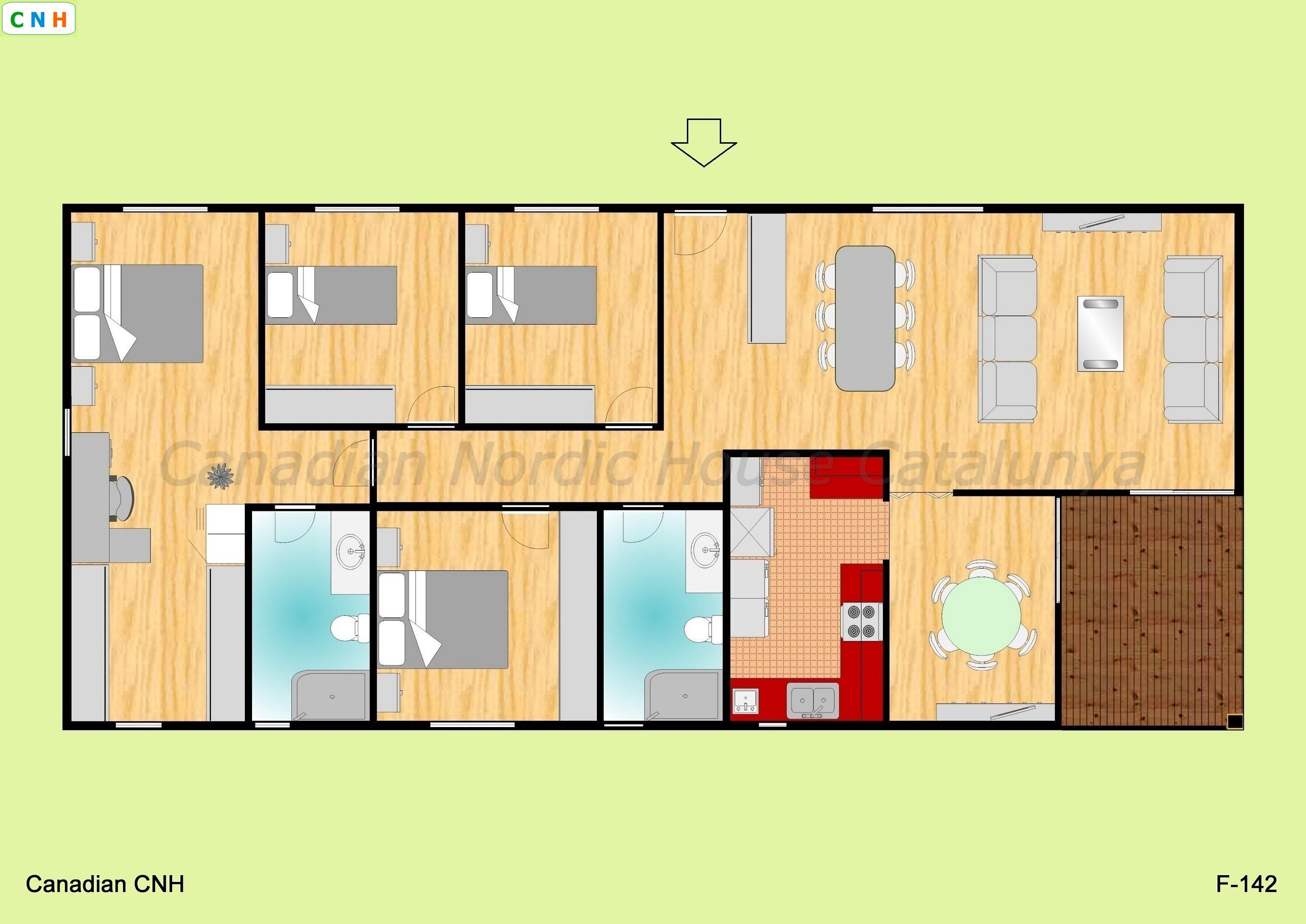 F 142 - Construcciones de casas de madera ...