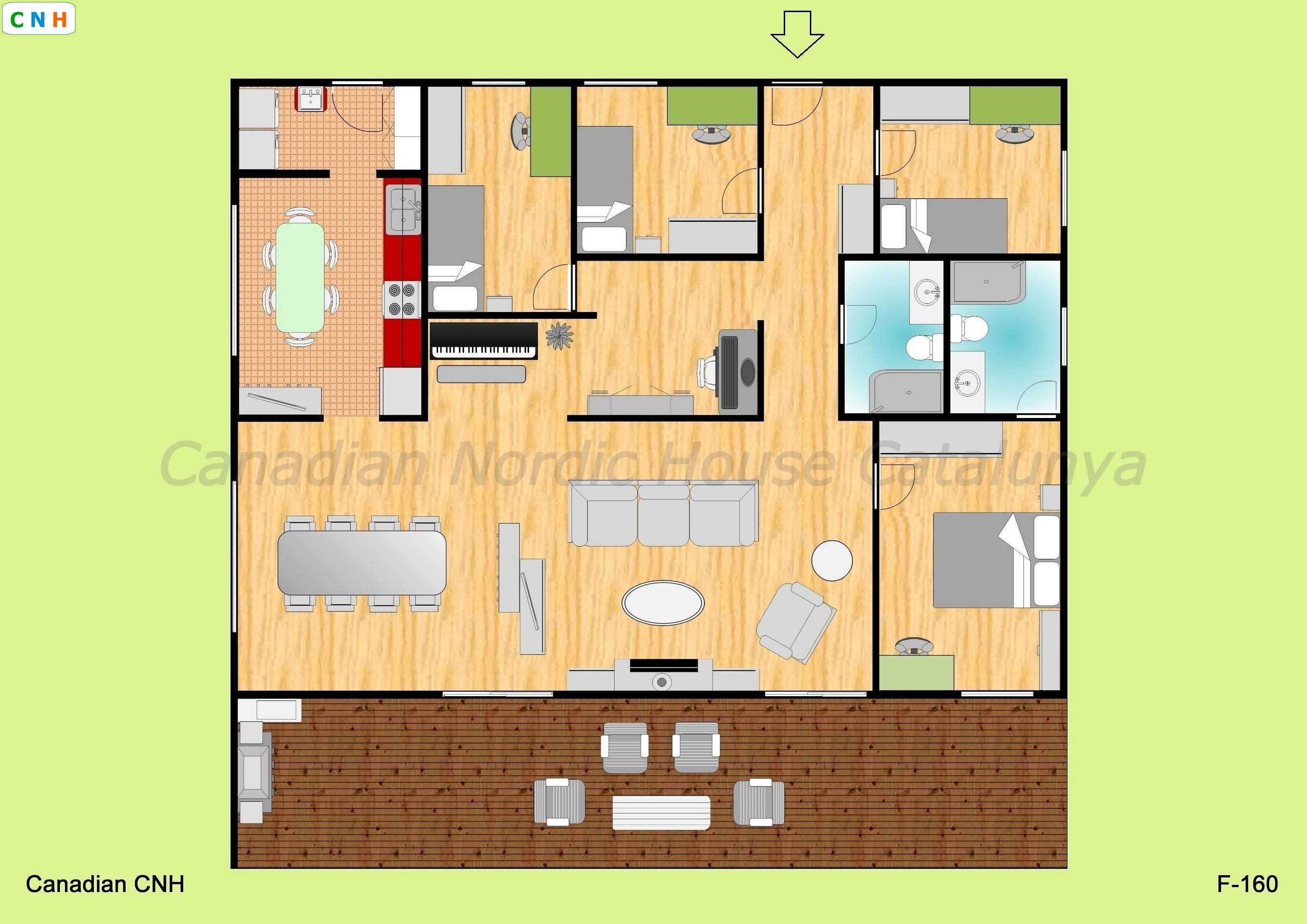 4 habitaciones - Construcciones de casas de madera ...