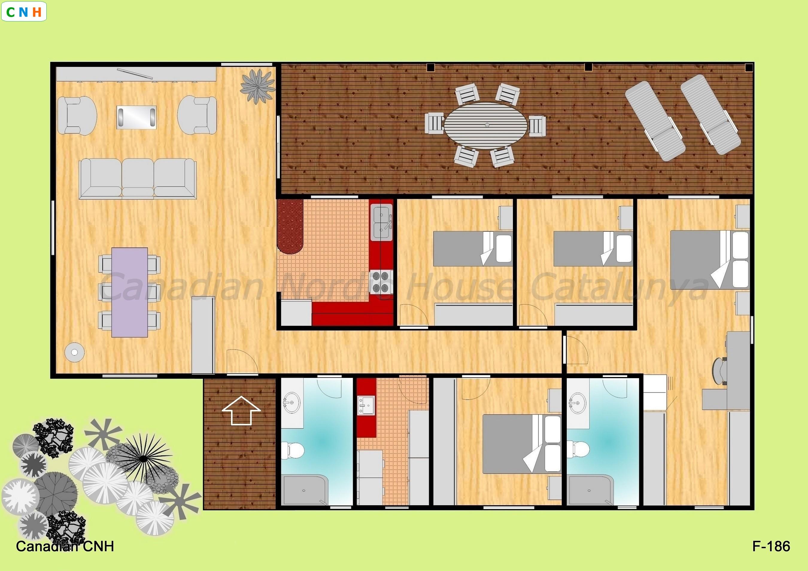 F 186 - Construcciones de casas de madera ...