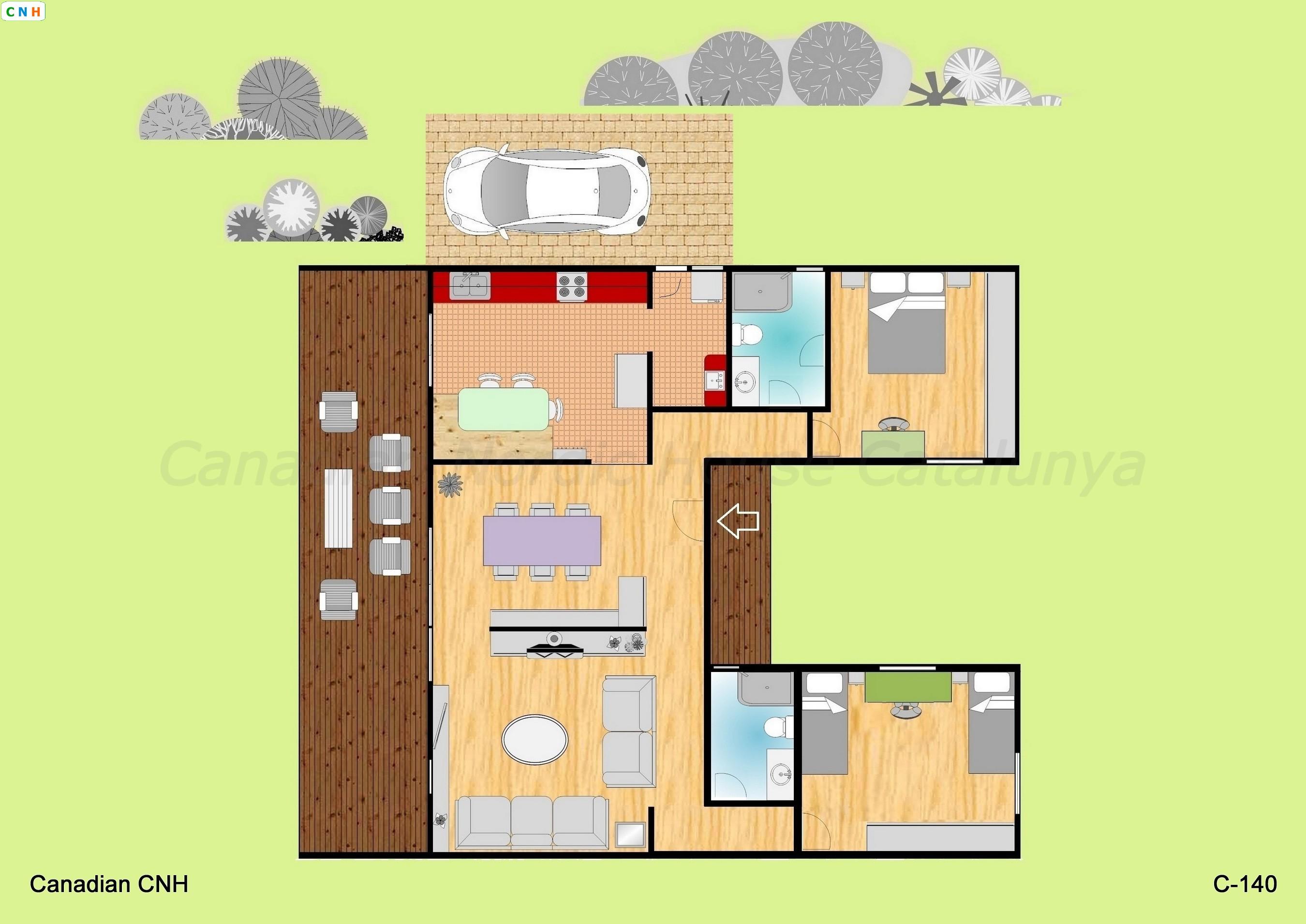 2 habitaciones - Construcciones de casas de madera ...